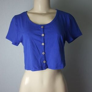 Love J Blue Crop Top Size L